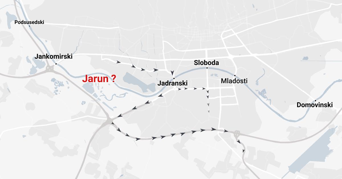 Road traffic bridges across the river Sava   Cestovni mostovi preko Save, Zagreb