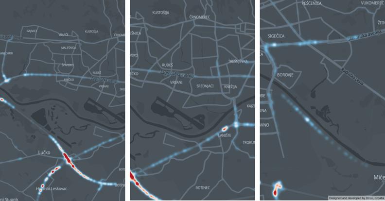 Severe speeding hotspots in Zagreb - Ljubljanska, Jadranska, Sajmisna | Prekoracenja brzine Zagreb Ljubljanska, Jadranska, Sajmisna